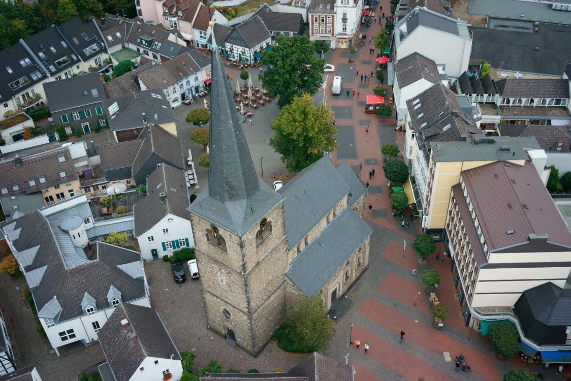 Reformationskirche Hilden von oben
