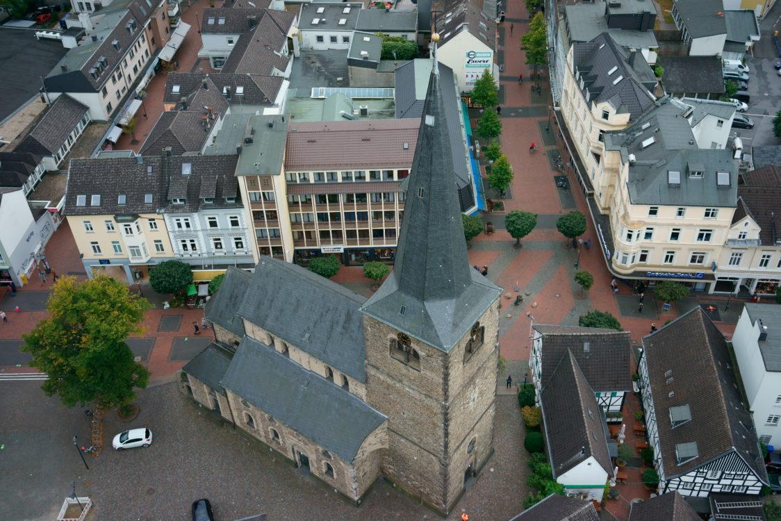 Reformationskirche Hilden von oben 4