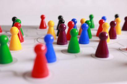 Spielsteine, Bild für Gemeinschaft