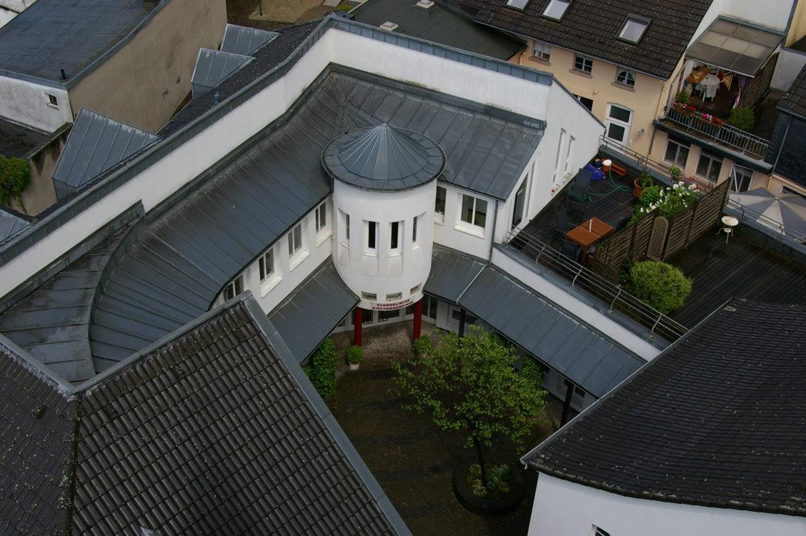 Gemeindezentrum Reformationskirche von oben