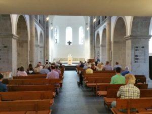 2017, Reformationskirche letzter Gottesdienst ohne Prinzipalstücke mit Besuchern, Haas