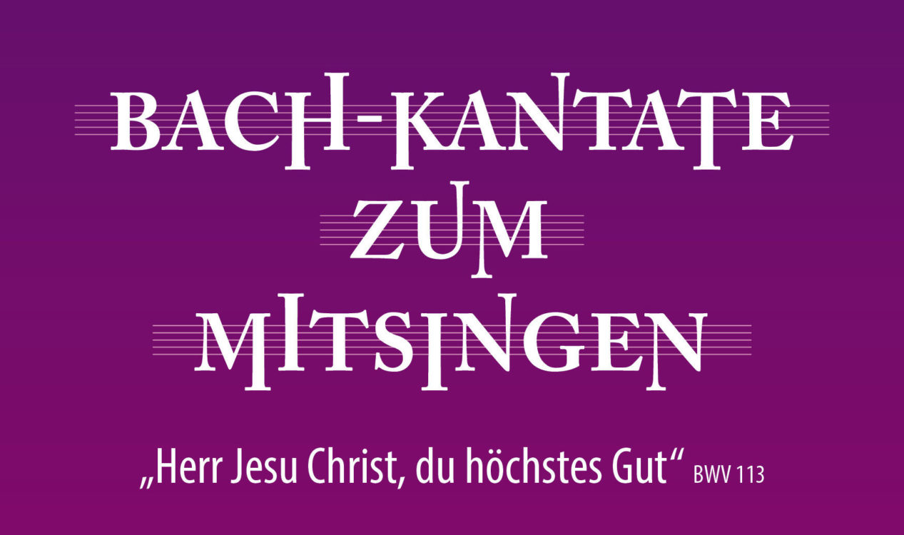 "Plakat ""Bach-Kantate zum Mitsingen"""