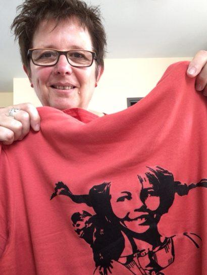 2017, N. Kagerer Ferienaktion mit Pippi T-shirt, Rechte Jugendarbeit