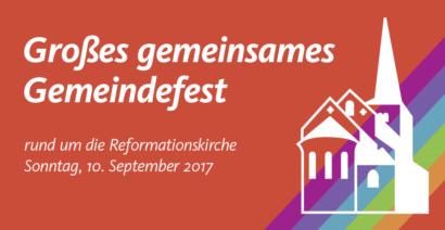 Ankündigung Gemeindefest, 10. September 2017