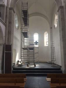 Malergerüst in der Reformationskirche, August 2017
