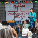 Grußwort von Bürgermeisterin Alkenings auf der Bühne