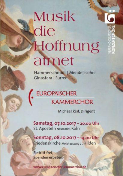 Flyer Europäischer Kammerchor: Musik, die Hoffnung atmet