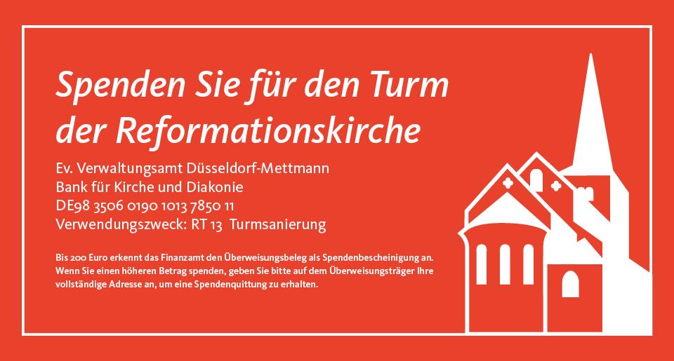 Slider-Turm-Spendenaufruf