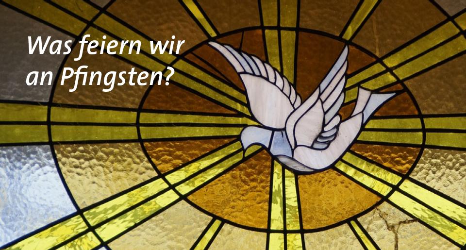 Taubenmotiv im Kirchenfenster