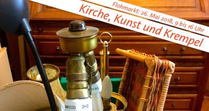 Trödel für den Flohmarkt rund um die Reformationskirche