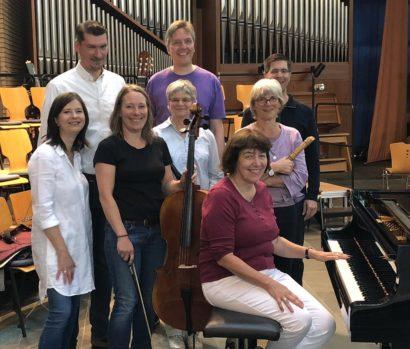 Einige Musikerinnen und Musiker des Konzert für Hilden