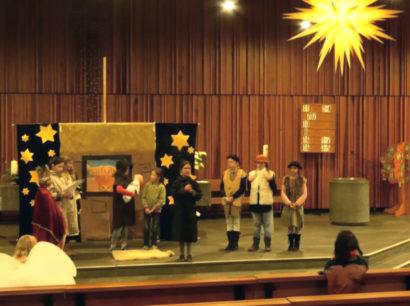 Krippenspiel in der Friedenskirche