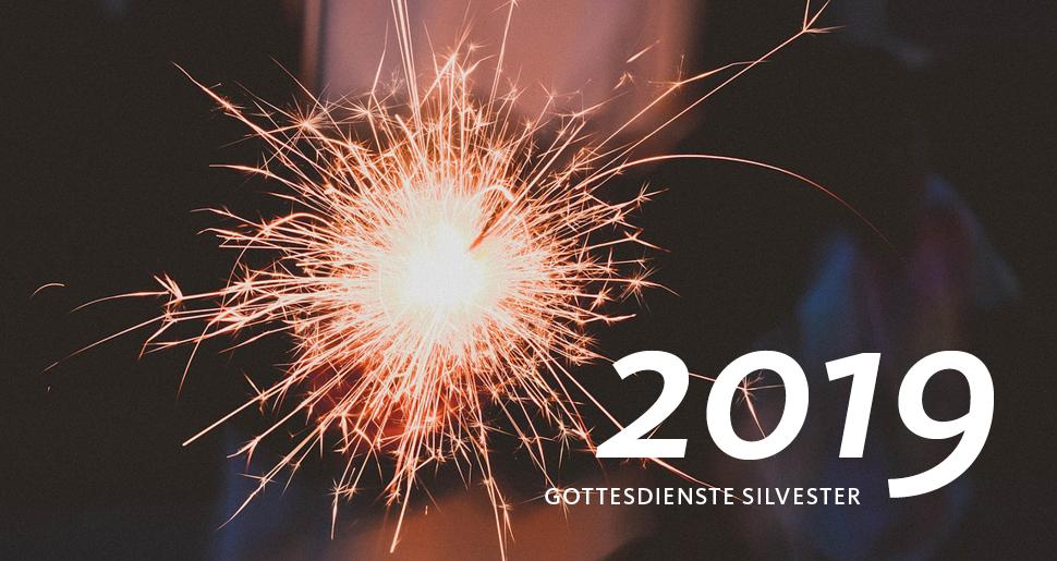 Brennende Wunderkerze, Silvestergottesdienste 2019
