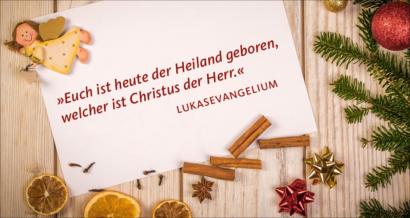 Engel: Euch ist heute der Heiland geboren, welcher ist Christus der Herr.