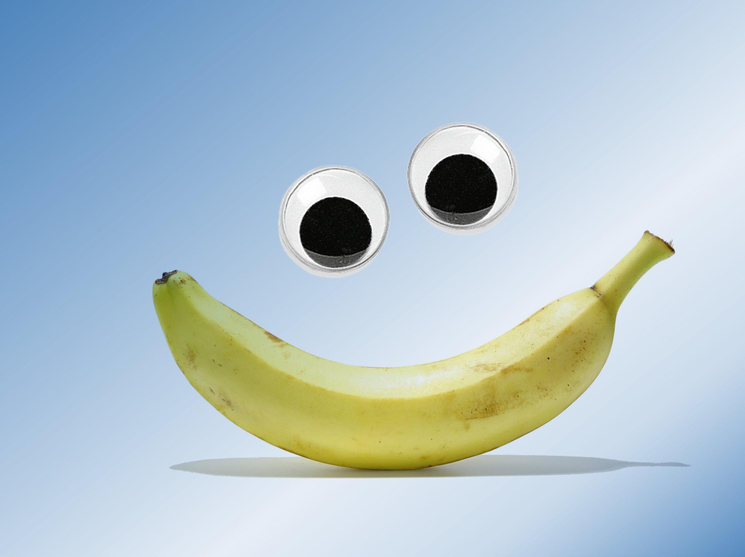 Lachende Banane