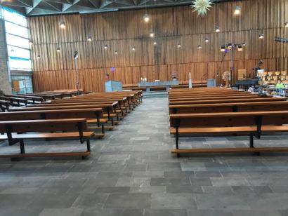 Friedenskirche beim Corona Umbau