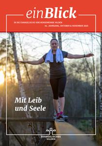 einBlick Titel Oktober/November 2020: Mit Leib und Seele