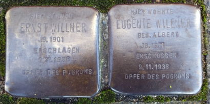 Stolpersteine Familie Willner, Benrather Str. 32