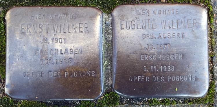 Stolpersteine Familie Willner, Benrather Str. 32