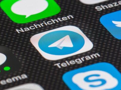 Social Media Icon des Messengers Telegram